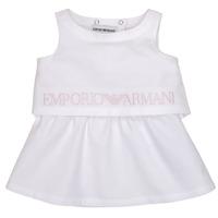 tekstylia Dziewczynka Sukienki krótkie Emporio Armani Alberic Biały