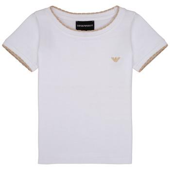 tekstylia Dziewczynka T-shirty z krótkim rękawem Emporio Armani Allan Biały