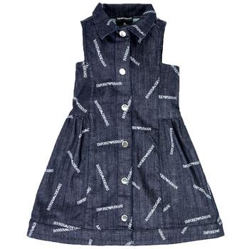 tekstylia Dziewczynka Sukienki krótkie Emporio Armani Andy Niebieski