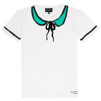 tekstylia Dziewczynka T-shirty z krótkim rękawem Emporio Armani Anthonin Biały