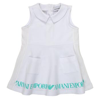 tekstylia Dziewczynka Sukienki krótkie Emporio Armani Apollinaire Biały