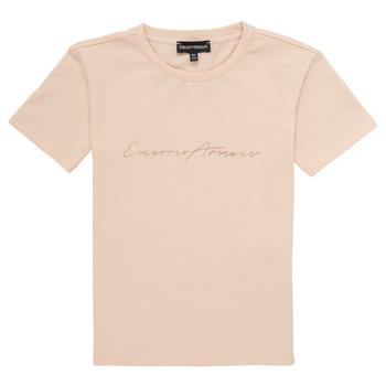 tekstylia Dziewczynka T-shirty z krótkim rękawem Emporio Armani Armel Różowy