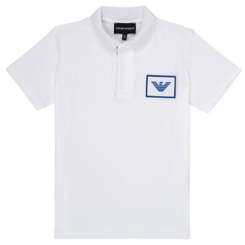 tekstylia Chłopiec Koszulki polo z krótkim rękawem Emporio Armani Aime Biały