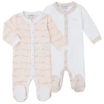 tekstylia Dziewczynka Piżama / koszula nocna Emporio Armani Alec Różowy