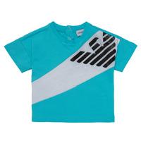 tekstylia Chłopiec T-shirty z krótkim rękawem Emporio Armani Alois Niebieski / Biały