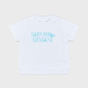 tekstylia Chłopiec T-shirty z krótkim rękawem Emporio Armani Arthus Biały