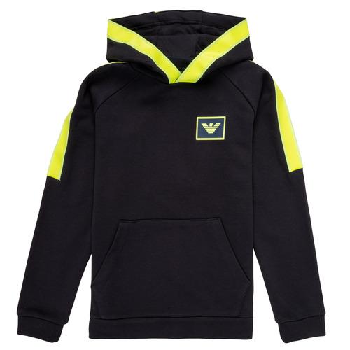 tekstylia Chłopiec Bluzy Emporio Armani Abel Marine / Zielony