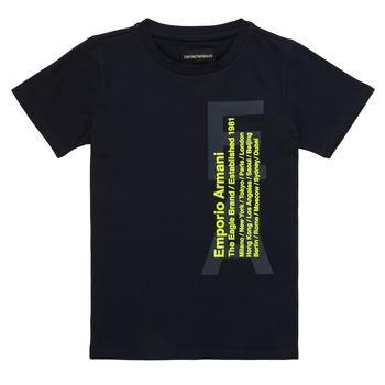 tekstylia Chłopiec T-shirty z krótkim rękawem Emporio Armani Andoni Marine