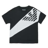 tekstylia Chłopiec T-shirty z krótkim rękawem Emporio Armani Blaise Czarny / Biały