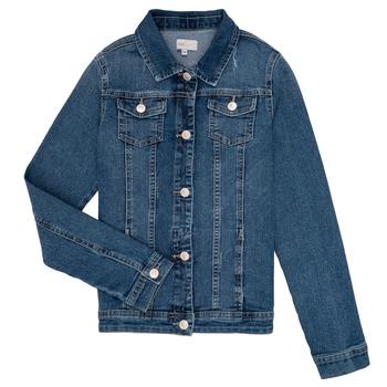 tekstylia Dziewczynka Kurtki jeansowe Only KONSARA Niebieski