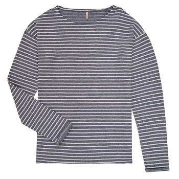 tekstylia Dziewczynka T-shirty z długim rękawem Only KONNELLY Biały / Marine