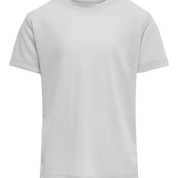 tekstylia Dziewczynka T-shirty z krótkim rękawem Only KONSILVERY Srebrny