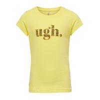 tekstylia Dziewczynka T-shirty z krótkim rękawem Only KONJULLA Żółty