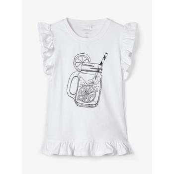 tekstylia Dziewczynka Topy na ramiączkach / T-shirty bez rękawów Name it NKFZELANA Biały