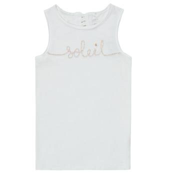 tekstylia Dziewczynka Topy na ramiączkach / T-shirty bez rękawów Name it NKFFAMILA Biały