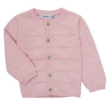tekstylia Dziewczynka Swetry rozpinane / Kardigany Noukie's NOAM Różowy