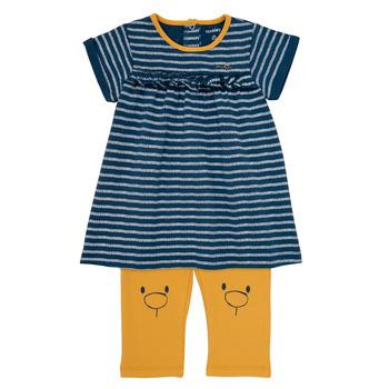 tekstylia Dziewczynka Sukienki krótkie Noukie's AYOUB Niebieski / Żółty