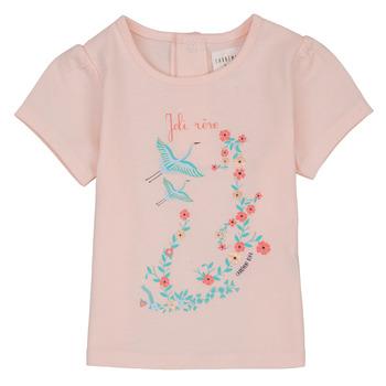 tekstylia Dziewczynka T-shirty z krótkim rękawem Carrément Beau NOLAN Różowy