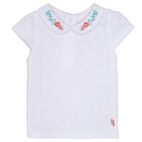 tekstylia Dziewczynka T-shirty z krótkim rękawem Carrément Beau MAYVE Biały