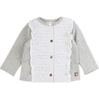 tekstylia Dziewczynka Swetry rozpinane / Kardigany Carrément Beau ISA Szary