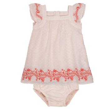 tekstylia Dziewczynka Sukienki krótkie Carrément Beau SAMY Różowy