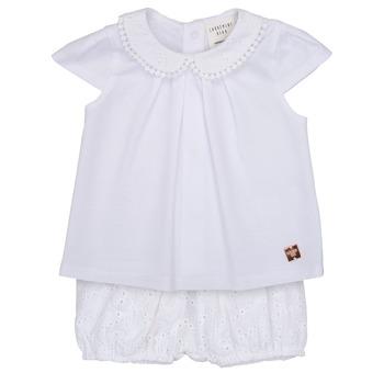 tekstylia Dziewczynka Komplet Carrément Beau LORELLI Biały