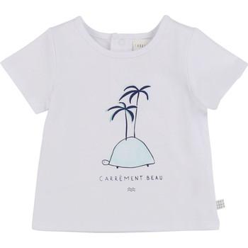 tekstylia Chłopiec T-shirty z krótkim rękawem Carrément Beau MARTINEZ Biały