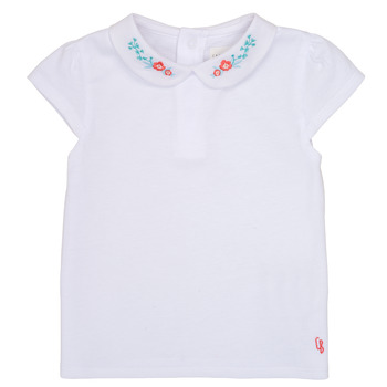 tekstylia Dziewczynka T-shirty z krótkim rękawem Carrément Beau JULIEN Biały