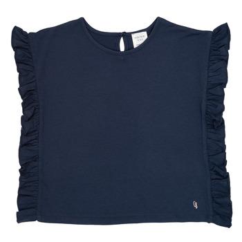 tekstylia Dziewczynka T-shirty z krótkim rękawem Carrément Beau KAMILLIA Niebieski
