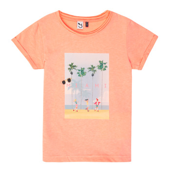 tekstylia Dziewczynka T-shirty z krótkim rękawem 3 Pommes LEA Pomarańczowy
