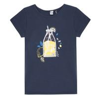 tekstylia Dziewczynka T-shirty z krótkim rękawem 3 Pommes LOGAN Niebieski