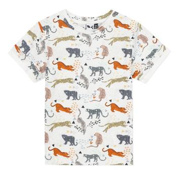 tekstylia Chłopiec T-shirty z krótkim rękawem 3 Pommes ARIANE Pomarańczowy