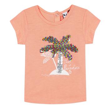 tekstylia Dziewczynka T-shirty z krótkim rękawem 3 Pommes EMMA Pomarańczowy