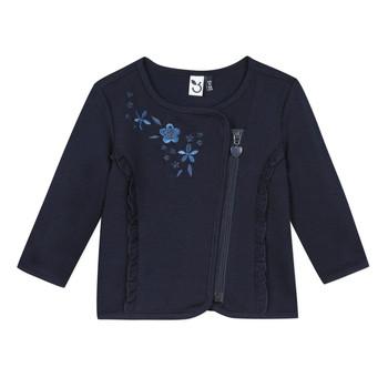 tekstylia Dziewczynka Swetry rozpinane / Kardigany 3 Pommes TEVAI Niebieski