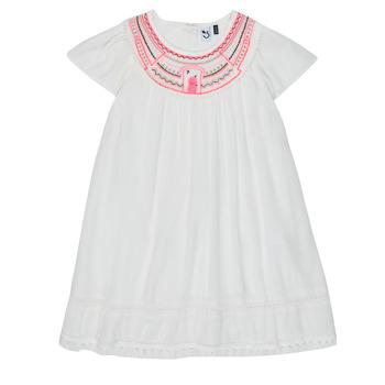 tekstylia Dziewczynka Sukienki krótkie 3 Pommes LAURA Biały