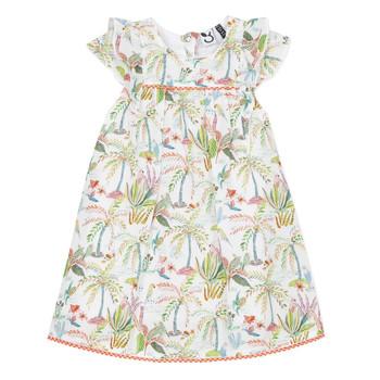 tekstylia Dziewczynka Sukienki krótkie 3 Pommes SANDRINE Biały