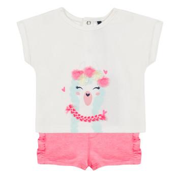 tekstylia Dziewczynka Komplet 3 Pommes JULIEN Różowy