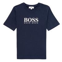 tekstylia Chłopiec T-shirty z krótkim rękawem BOSS MARIA Niebieski