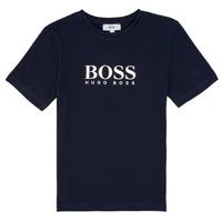 tekstylia Chłopiec T-shirty z krótkim rękawem BOSS PILIO Niebieski