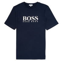 tekstylia Chłopiec T-shirty z krótkim rękawem BOSS ELIO Niebieski