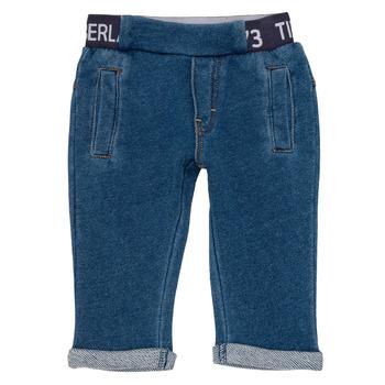 tekstylia Chłopiec Spodnie z pięcioma kieszeniami Timberland VALENTIN Niebieski