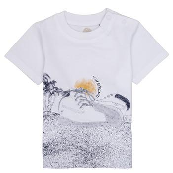 tekstylia Chłopiec T-shirty z krótkim rękawem Timberland ANTONIN Biały