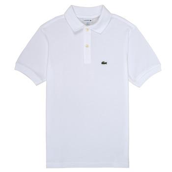 tekstylia Chłopiec Koszulki polo z krótkim rękawem Lacoste ELYAN Biały