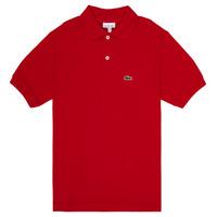 tekstylia Chłopiec Koszulki polo z krótkim rękawem Lacoste WILLS Czerwony