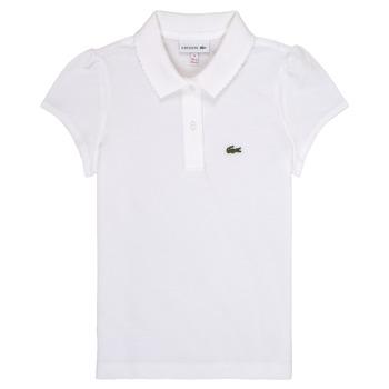 tekstylia Dziewczynka Koszulki polo z krótkim rękawem Lacoste CAYDEN Biały