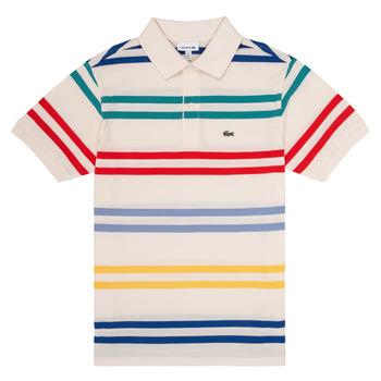 tekstylia Chłopiec Koszulki polo z krótkim rękawem Lacoste HENRI Wielokolorowy