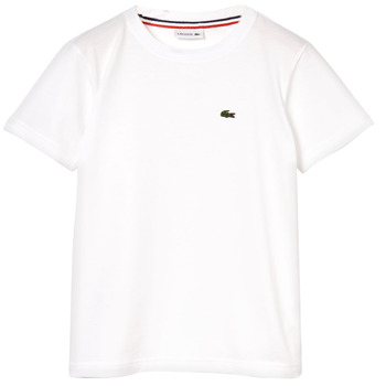 tekstylia Chłopiec T-shirty z krótkim rękawem Lacoste NAE Biały