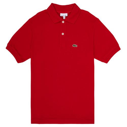 tekstylia Chłopiec Koszulki polo z krótkim rękawem Lacoste LOLLA Czerwony