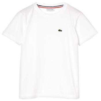 tekstylia Chłopiec T-shirty z krótkim rękawem Lacoste ALIZE Biały