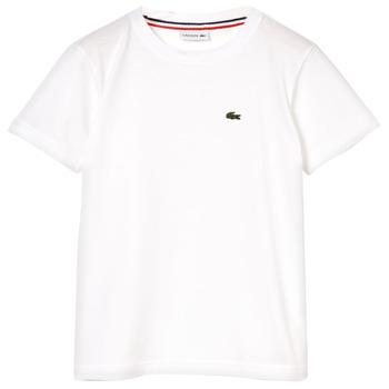 tekstylia Chłopiec T-shirty z krótkim rękawem Lacoste APAULINE Biały